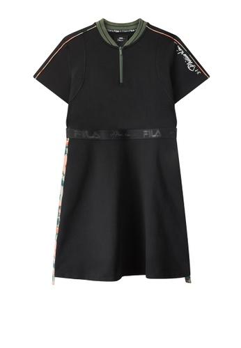 FILA black FILA x 3.1 Phillip Lim Camouflage Side Tape Dress 9ADF8AA8776F1BGS_1
