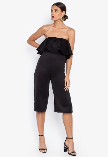 2663e4a9966 Shop Ashley Collection Tube Frills Jumpsuit Online on ZALORA Philippines