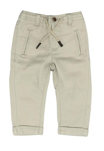 FOX Kids & Baby brown Skinny Drawstring and Zipper Chinos 52919KAAC3536AGS_1