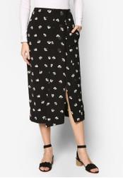 WAREHOUSE black Dandy Mono Skirt WA653AA65YMGMY_1