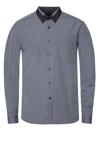 Pacolino black Casual Smart Long Sleeve Shirt PA995AA58COZMY_1