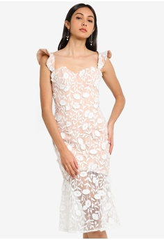 148b1dd89fc JARLO LONDON white Tootsie Evening Dress AFA32AA87E0E65GS 1