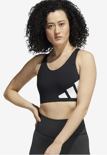 ADIDAS black ultimate high-support logo bra 29E90US62ECCE7GS_1