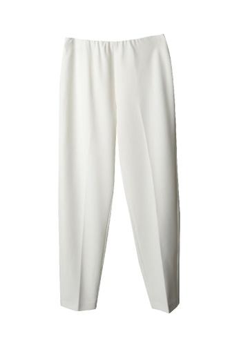 Giordano Ladies white Back Elastic Waist Tight Pants 501F9AA98B978CGS_1