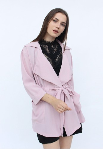 MAGNOLIA pink Drawstring Blazer B9B61AA4EB1365GS_1