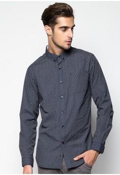 Casual Geo Print Longsleeved Shirt