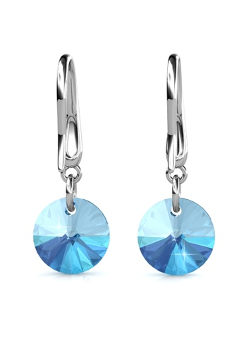 Her Jewellery silver Circlet Hook Earrings (Aquamarine) - Made with premium grade crystals from Austria HE210AC0GJS9SG_1