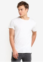 Indicode Jeans white Aloy Washed Longline T-Shirt IN815AA60PTJMY_1