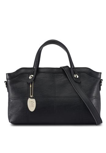 Perllini&Mel black Faux Leather Satchel Top Handle D56E9ACE1D1C37GS_1