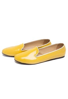 Paige Patent Loafer Yellow