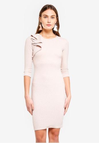 Goddiva grey Glitter Mini Dress 74B4CAA32B76F8GS_1