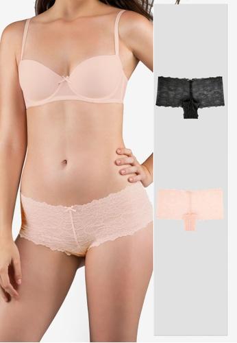 Dorina black and pink Layla-2PP Hipster Panties EE673USA7ABDB2GS_1