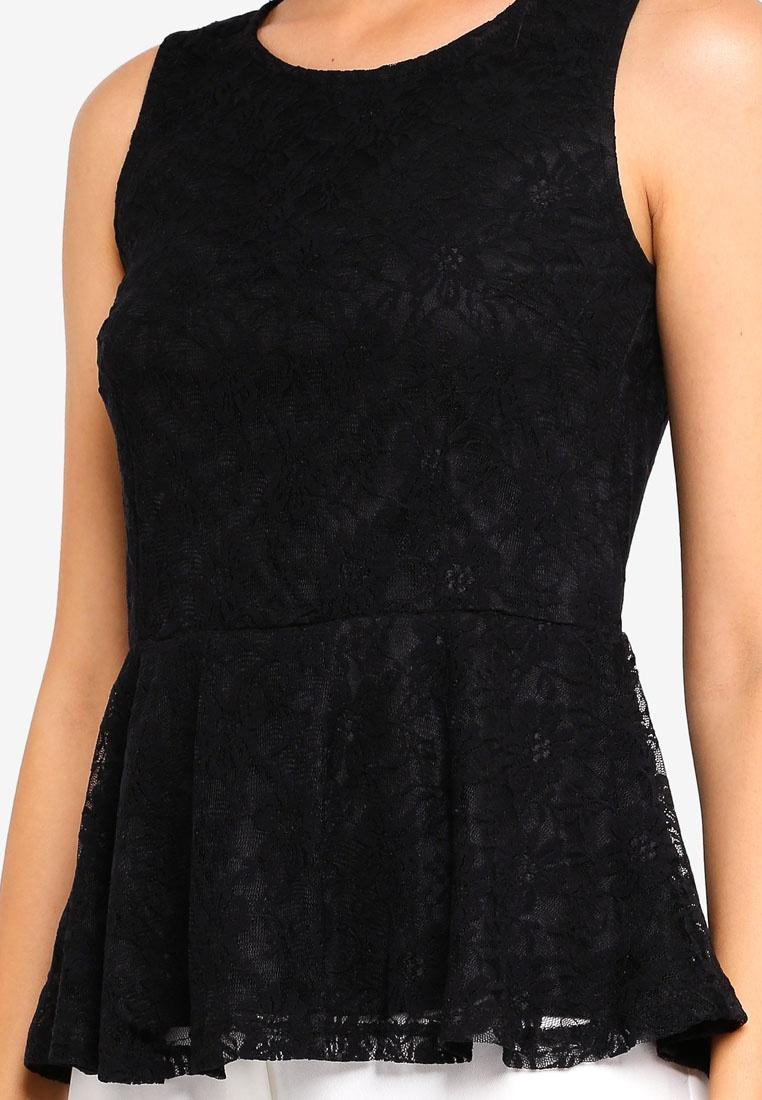 Lullo Lace Top Black Moda Vero 5aqWFp8a