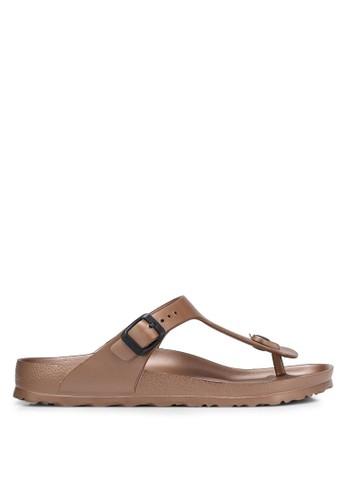 Birkenstock brown Gizeh EVA Sandals BI090SH0RCNVMY_1