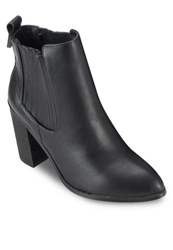 Jamie 羅紋粗跟踝esprit台北門市靴, 女鞋, 鞋