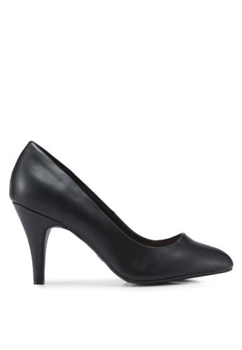 Dorothy Perkins black Wide Black Pu Claudia Court Shoes C2583SHFFB5A92GS_1