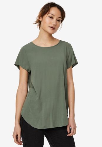 Vero Moda green Becca Short Sleeve Top 1D0F2AA9EC641EGS_1