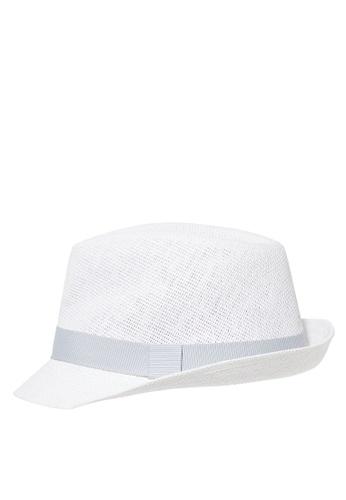 Du Pareil Au Même (DPAM) white White Fedora Hat 65BD8KCCAC100DGS_1