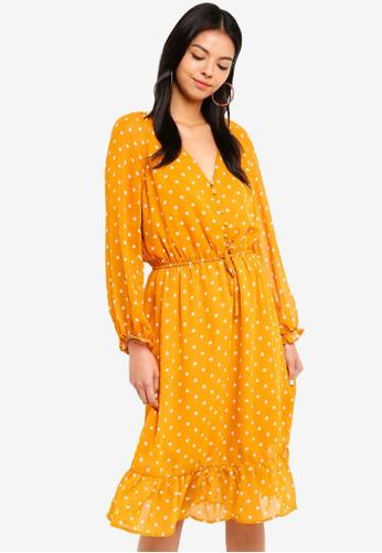 Cotton On gold Woven Raquel Winter Maxi Dress 8A064AAF2B3796GS_1