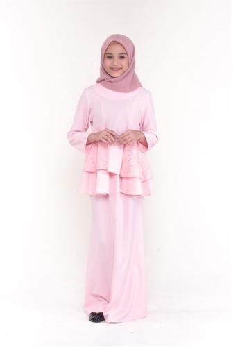 MOTHER & CHILD pink Kurung Peplum Aara Kids 6C2B2KA75547B8GS_1