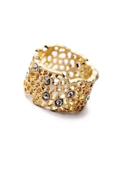 Chloe & Isabel Golden Honeycomb Ring