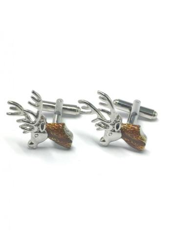 Splice Cufflinks silver Reindeer Head Cufflinks SP744AC96FTVSG_1