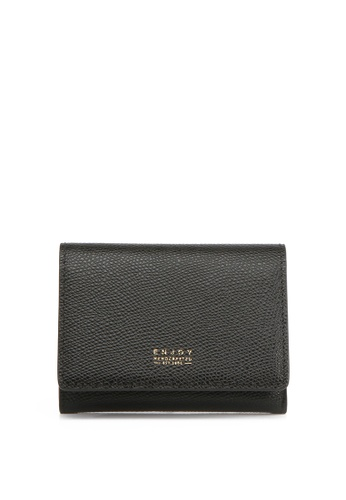 Enjoybag black Flynn Smart`s Pebble Grain Leather Card Holder EN763AC2UOUAHK_1