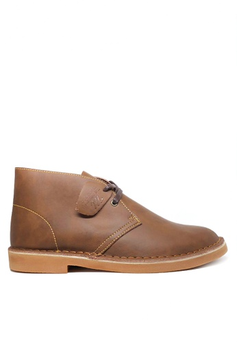 Twenty Eight Shoes brown Men's Leather Boots MC1407023 3E03DSHE2F2374GS_1