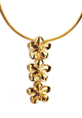 Paulini gold Choker Orchid-S 3T (G) PA011AC06BQRMY_1