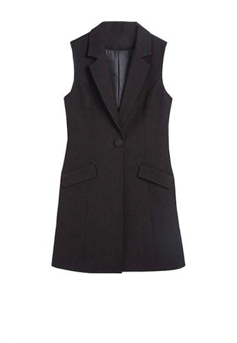 Twenty Eight Shoes black VANSA Suit Long Vest  VCW-V8180 704CCAA001633AGS_1