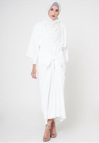 TITAN'S WARDROBE white Tied Dress in White TI407AA50AXLID_1