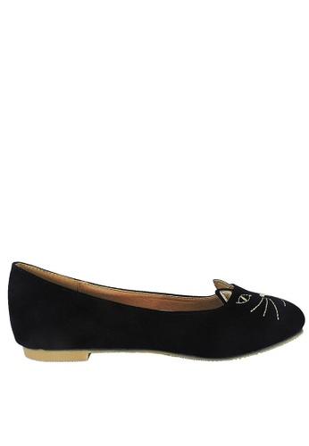 Jacque black Kitten Black Flats JA262SH22KCZMY_1