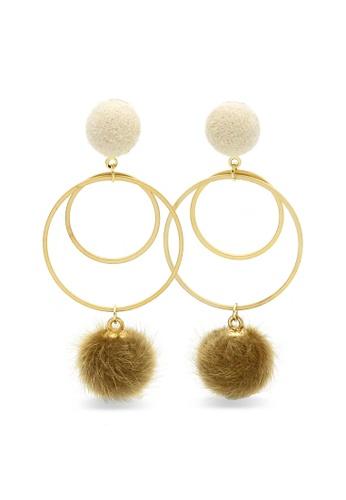 fab2a60839549 Bouncing Fur-Ball Earrings