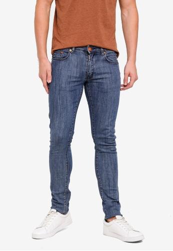 Electro Denim Lab 藍色 Indie-Skinny Jeans D670EAADA0E61BGS_1