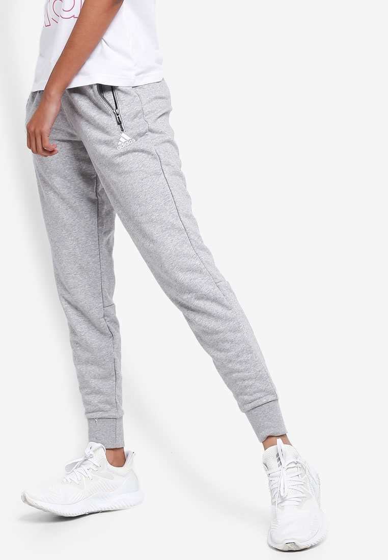 adidas Grey Medium White w pants sid adidas jogger s Heather qYUxpq0r