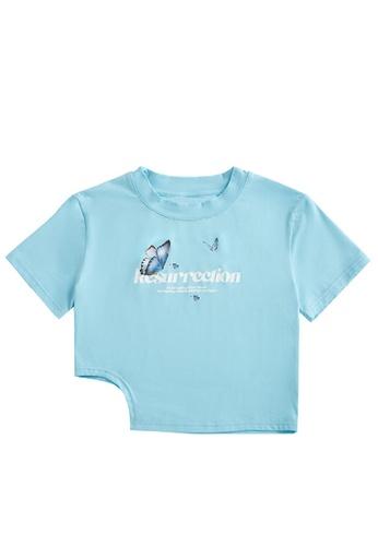 Twenty Eight Shoes Cropped Printed Short Sleeve T-shirt 6043GS21 E690CAAF4AB375GS_1