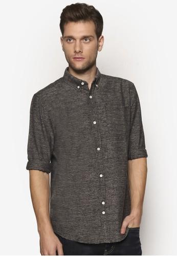 暗紋長袖襯衫、 服飾、 襯衫Bellfield暗紋長袖襯衫最新折價