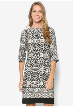 Monochrome Printed Tunic Dress