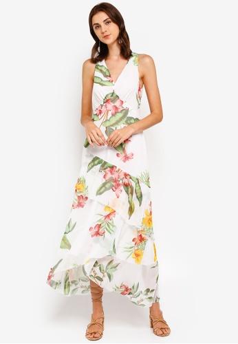 c9b00916a Buy WAREHOUSE Havana Print Dress   ZALORA HK