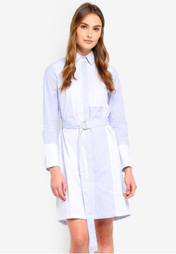 ESPRIT blue Long Woven Stripe Dress B8E3BAAE1E9EB9GS_1
