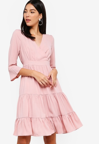12b5b06a08ec Buy ZALORA Overlap Tiered Dress Online on ZALORA Singapore