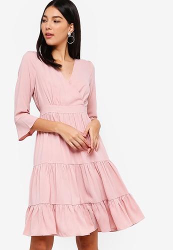 12b5b06a08ec Buy ZALORA Overlap Tiered Dress Online on ZALORA Singapore
