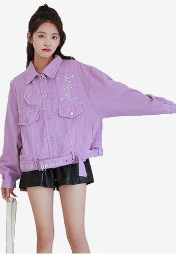 Shopsfashion purple Denim Jacket D83C8AABC046BAGS_1