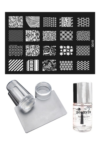 Pretty2u Nail Art Stamp Plate QQ03 Set PR716BE14KAJMY_1