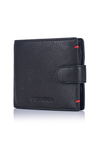 ENZODESIGN black and red and multi Ultra Soft Cow Leather Snap Closure Coin Compartment Leather Wallet (Flip out I.D.) EN880AC2UZRQHK_1