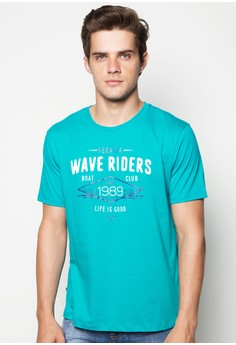 Short Sleeved Crew Neck T-Shirt with Print