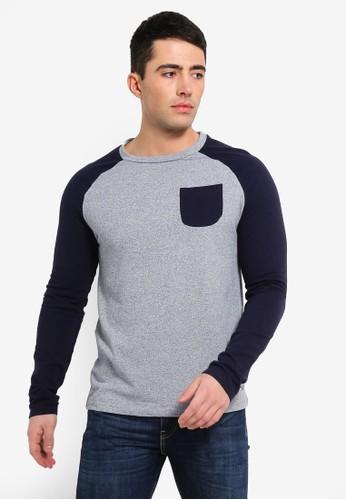 Brave Soul grey Crew Neck Raglan Sleeve Sweatshirt 43CC4AAAC07CBAGS_1