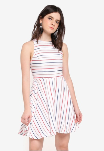 ZALORA white Mini Swing Dress 6CEC6AA3814416GS_1