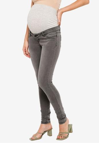 Mama.licious grey Maternity Lola Slim Jeans E54A6AA47A371EGS_1