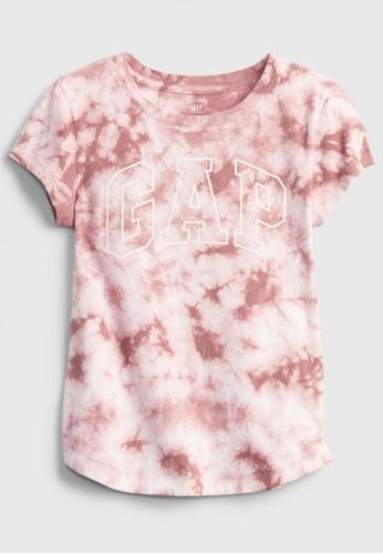 GAP pink Kids Tie Dye Graphic T-Shirt CA4BAKA3441175GS_1